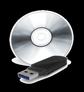 MEDIAFIX-Speichermedien USB-Stick und DVD