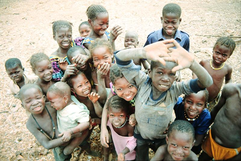Gruppe afrikanischer Kinder