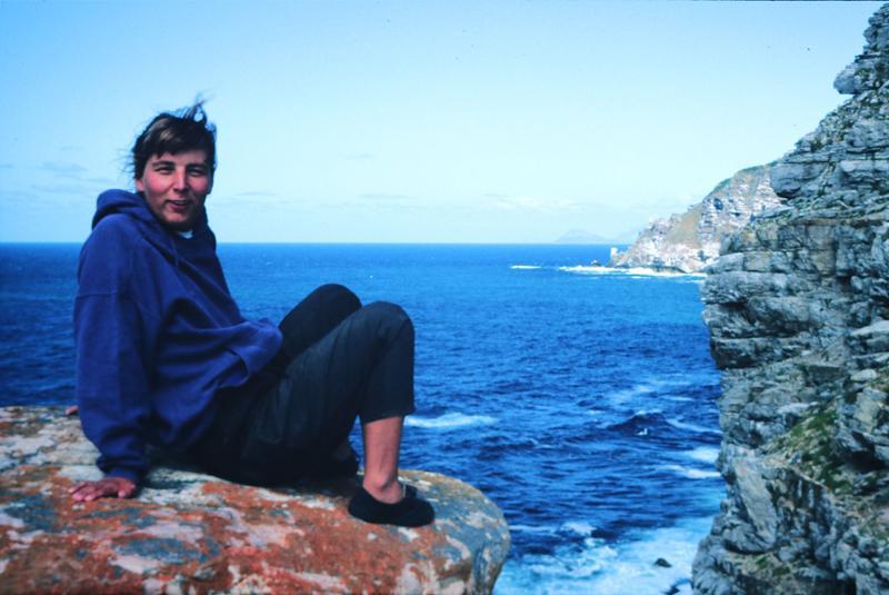 Frau Jack am Indischen Ozean
