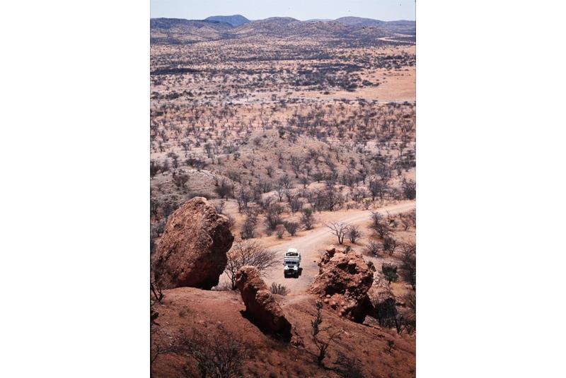 Jeep in der Steppe