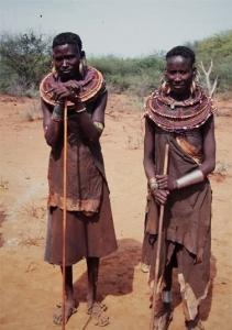 Zwei Samburus in Kenia