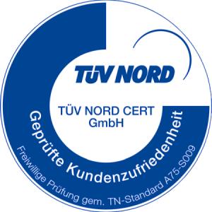 TÜV-Zertifizierung für geprüfte Kundenzufriedenheit
