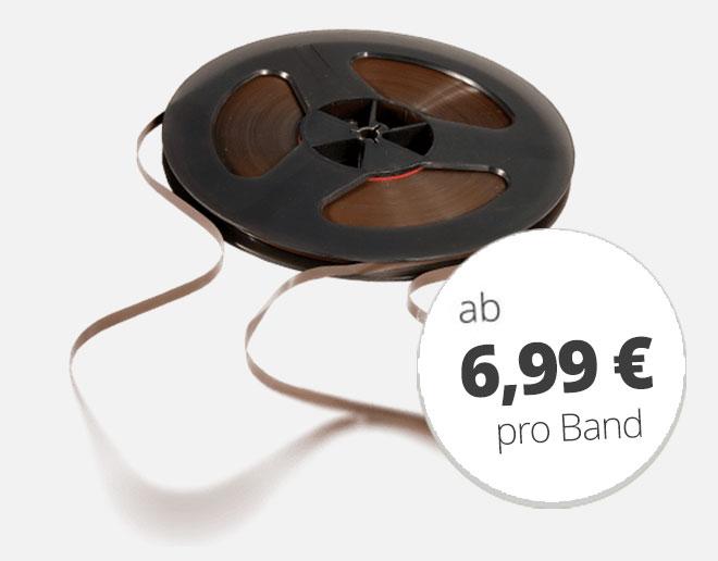 Tonbänder digitalisieren ab 6,99 €