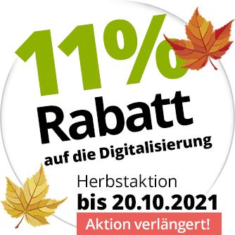 11% Rabatt auf die Digitalisierung