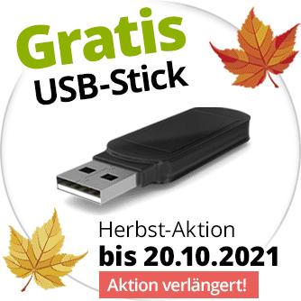 Gratis-USB-Stick zur Speicherung